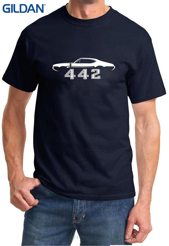 8a3df3e1d Wholesale Discount Sale 100 % Cotton T Shirt 1968 1969 Oldsmobile 442  Cutlass Hardtop Classic Outline Design Tshirt Online Tee Shirts Shopping  Funniest Tee ...