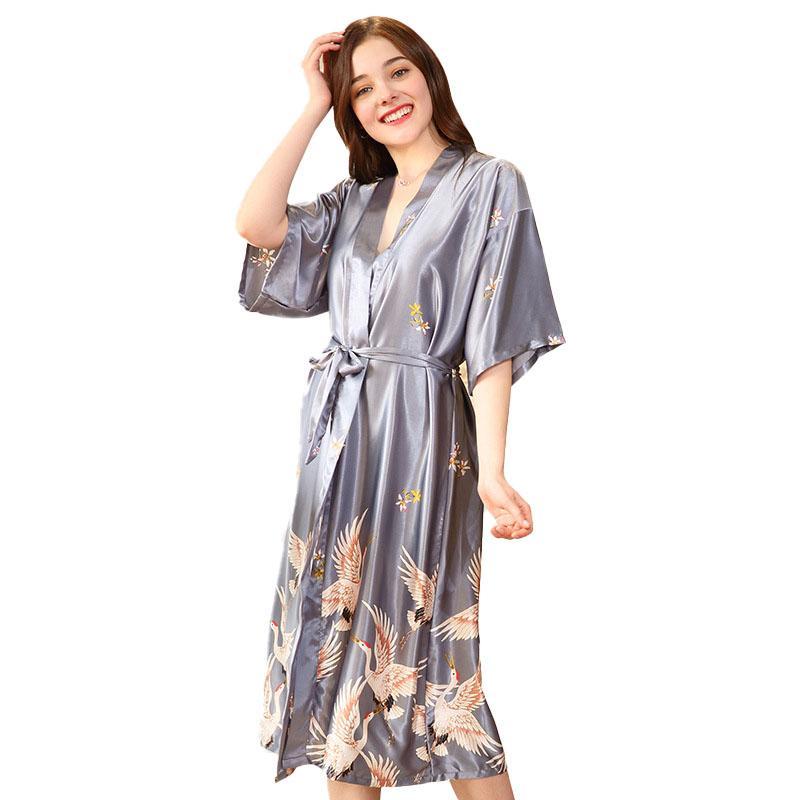 aa74c6f04a 2019 Women Short Satin Wedding Kimono Robes Sleepwear Nightgown Dress Woman  Bathrobe Pajamas Fashion Silk Bridesmaid Bride Robe Sexy From Tutucloth