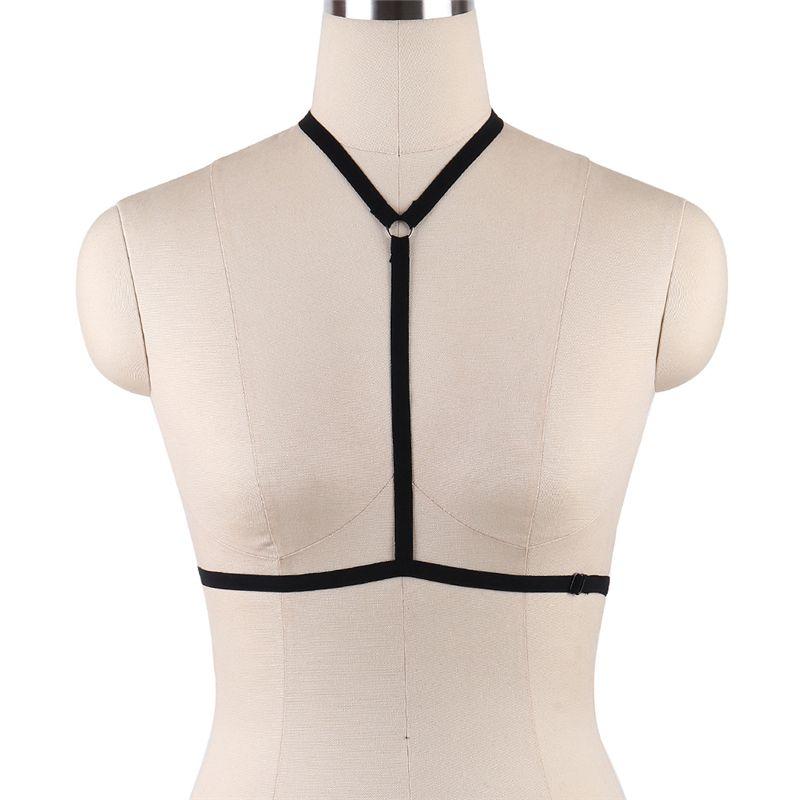 إمرأة مثير تسخير ملابس سوداء الجسم قفص البرازيلي مطاطا strappy القمم عبودية بوستير القوطي الوثن المثيرة سخرية الرباط أحزمة