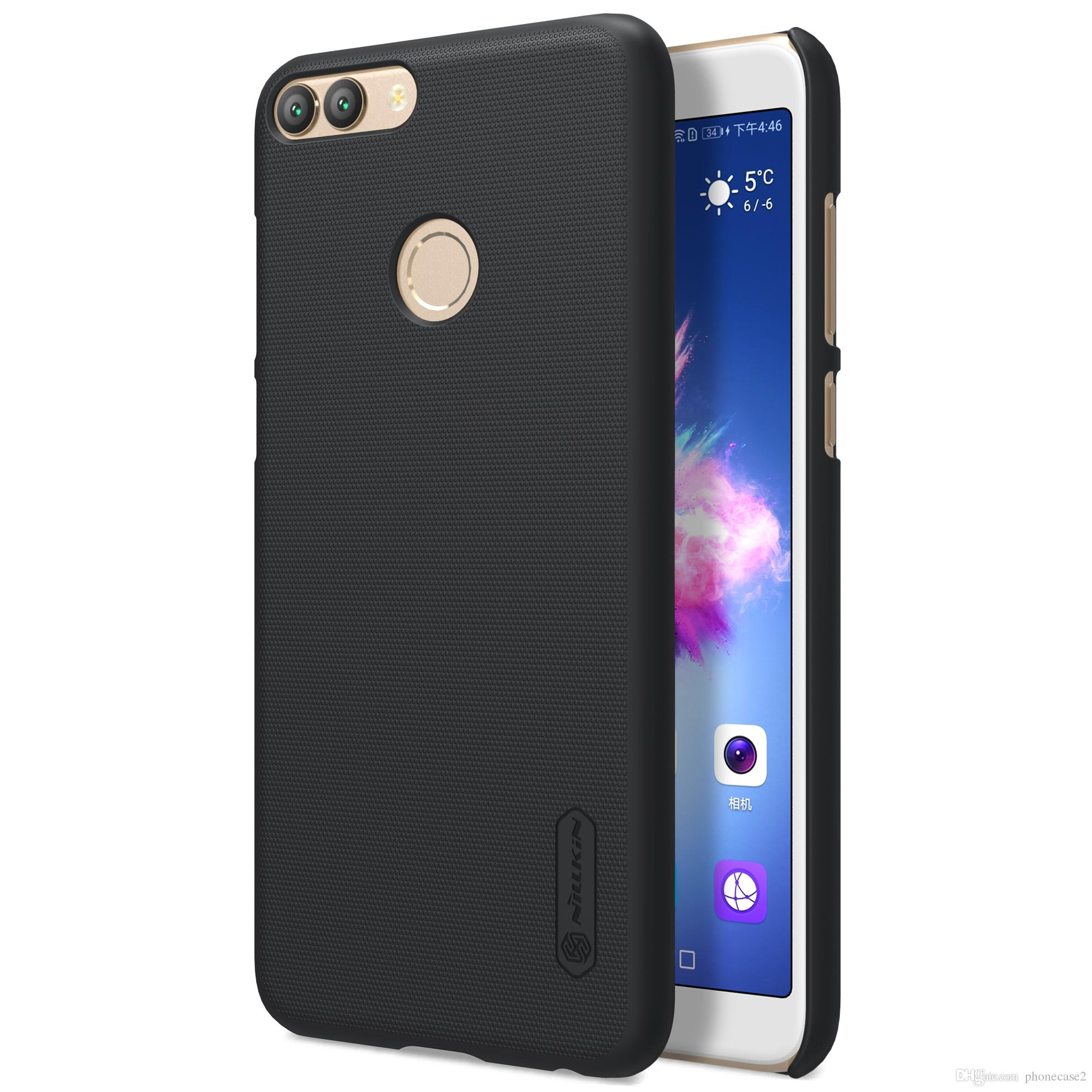best service da734 e64d8 Huawei P Smart case cover 5.65 Nillkin case for Huawei P Smart Enjoy 7S  Frosted shield Matte hard cover Gift screen protector