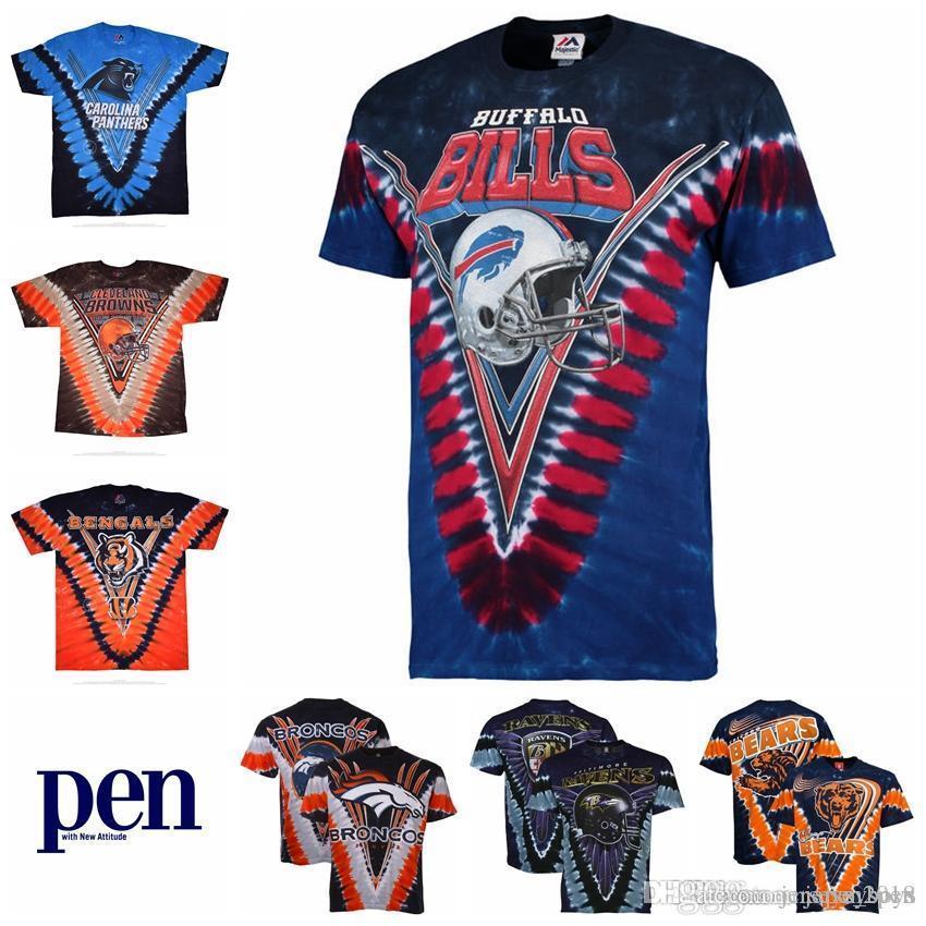 5f3a9804c089 2019 Denver Broncos Cleveland Browns Cincinnati Bengals Chicago Bears  Carolina Panthers Buffalo Bills Baltimore Ravens Tie Dye Jerseys T Shirt  From ...