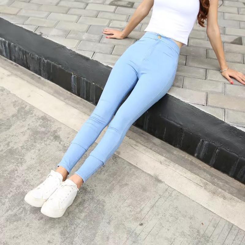 731d2b02ca9 Women High Waist Jeans New Fashion Pencil Pants Sexy Slim Elastic ...