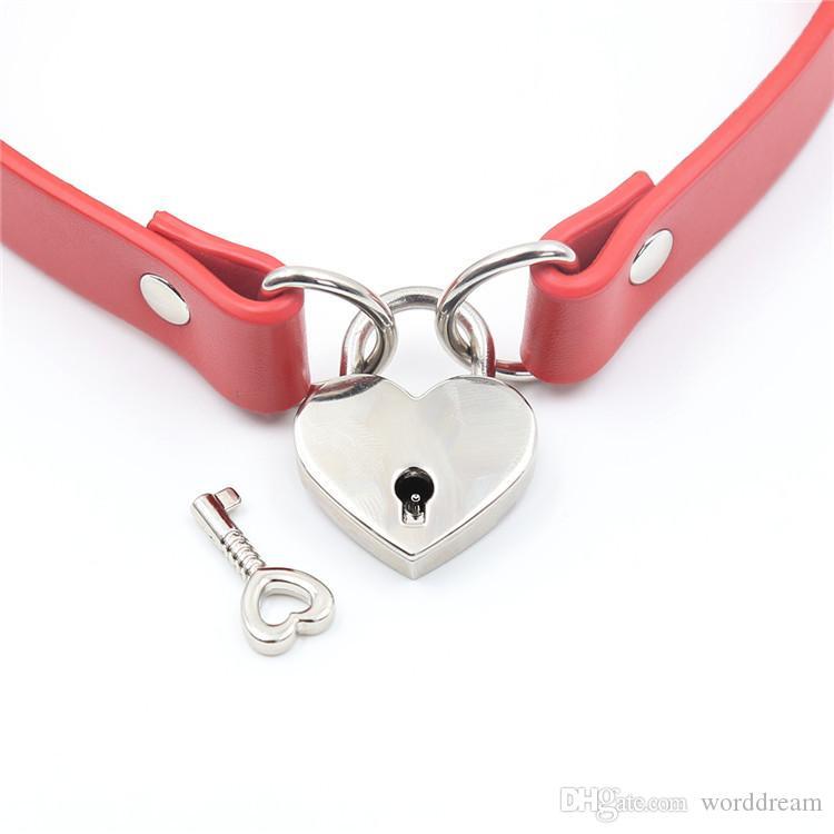 Cinturón de esclavitud de Bdsm con bloqueo de esclavitud para perros de cuero de PU en juegos para adultos, Fetish Sex Products Flirting Toys para mujeres