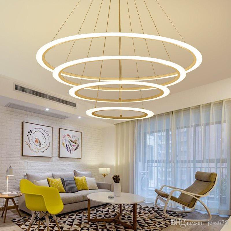 Compre JESS Creativo Moderno LED Luces Colgantes Cocina Acrílico + ...