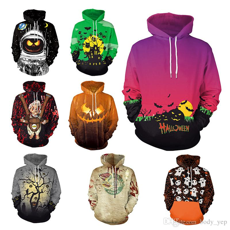 Men's Clothing Jack O Lantern Pumpkin Halloween Hoodie Men Halloween Gift Hooded Sweatshirts 2018 Winter Autumn Brand Holiday Costumes Hoodies For Improving Blood Circulation