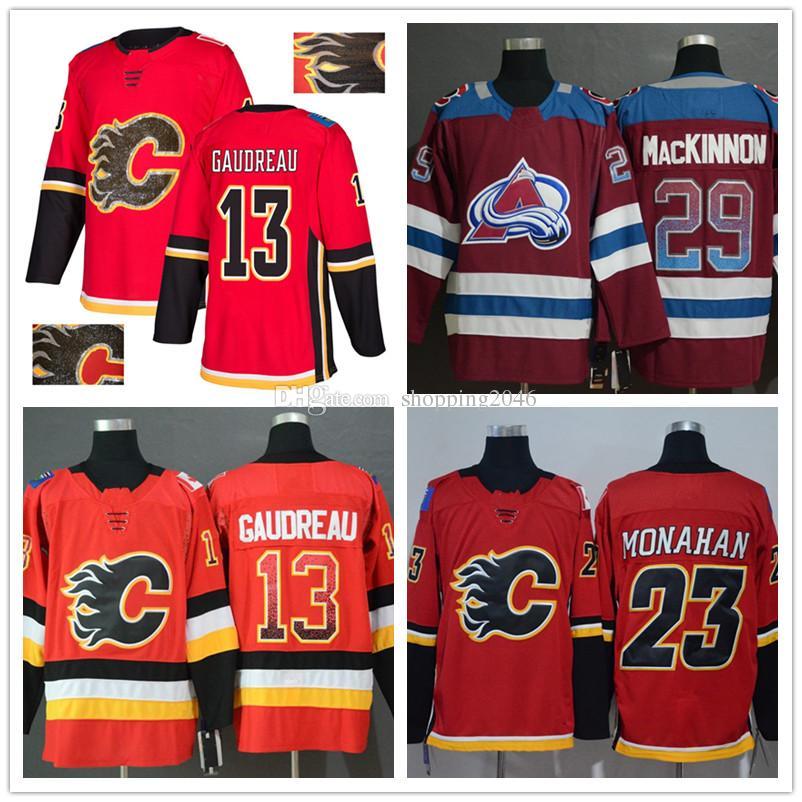 23892234e69 Men's Colorado Avalanche 29 Nathan MacKinnon Calgary Flames 13 ...