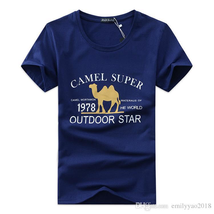 d9bc825a7d Men 2018 New Spring Short T Shirt Men Fashion Camel Super Design Fitness T  Shirt Summer Short Sleeve Slim Fit Hip Hop Tshirt Outdoor Star T Shirt  Every Day ...