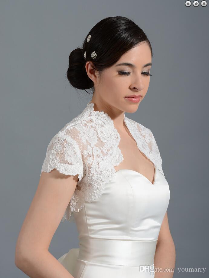 2018 Cheap Simple White Bridal Jacket Ruffles Custom Made Wraps Wedding Bolero Cheap Bridal Wear
