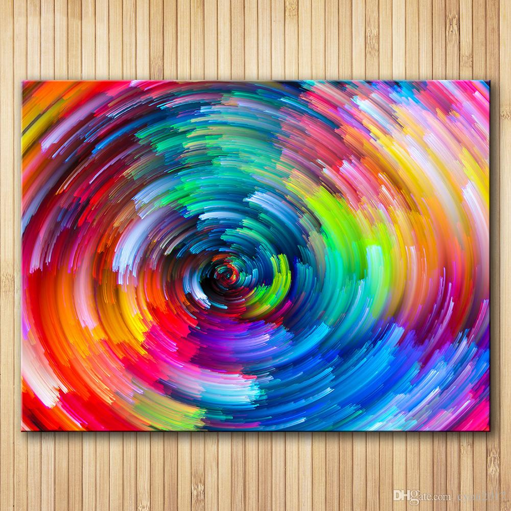 2019 canvas art abstract painting spot the pattern paint the rainbow home decoration wall pictures for living room b010 from cyon2017 11 1 dhgate com