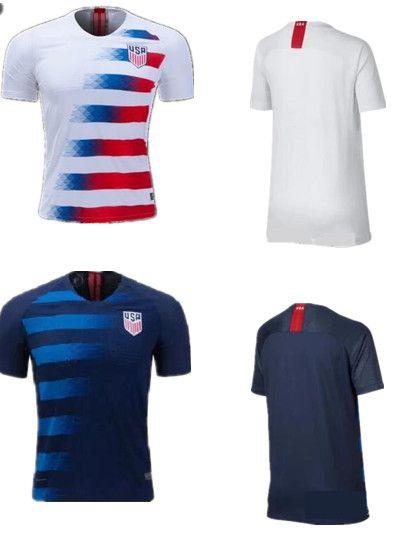 63de86369c2d7 Compre Camisas De Futebol 2018 EUA Copa Do Mundo Fora De Casa Personalizada  DEMPSEY DONOVAN BRADLEY PULISIC Camisas Uniforme De Futebol Americano Dos  ...