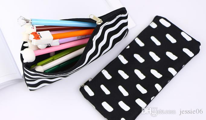 شريط حقيبة قلم رصاص الجيب مدرسة التجميل المكياج قلم رصاص المنظم حقيبة حالة الحقيبة اللوازم المدرسية مكتب