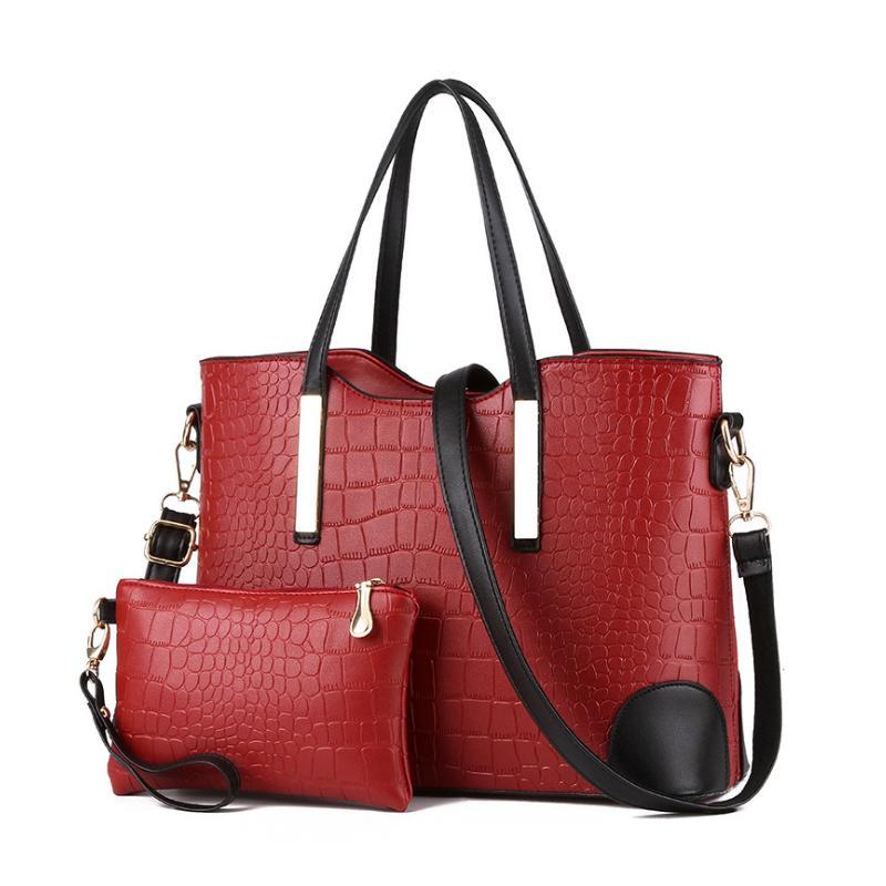 ba885fbe1364 Homeda Women Bag Fashion Alligator Messenger Bags Handbags PU Leather  Female Bag Set Bolsos Mujer De Marca Famosa 2018 Bolsos Mujer De Marca  Bolsos Mujer ...