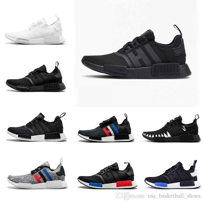 9d3b13e84 NMD Primeknit Men Running Shoes Nmd R1 Primeknit City Sock OREO NBHD OG  Triple Black White NMD Runner Women Sports Sneakers Eur36 45 Best Running  Shoes ...