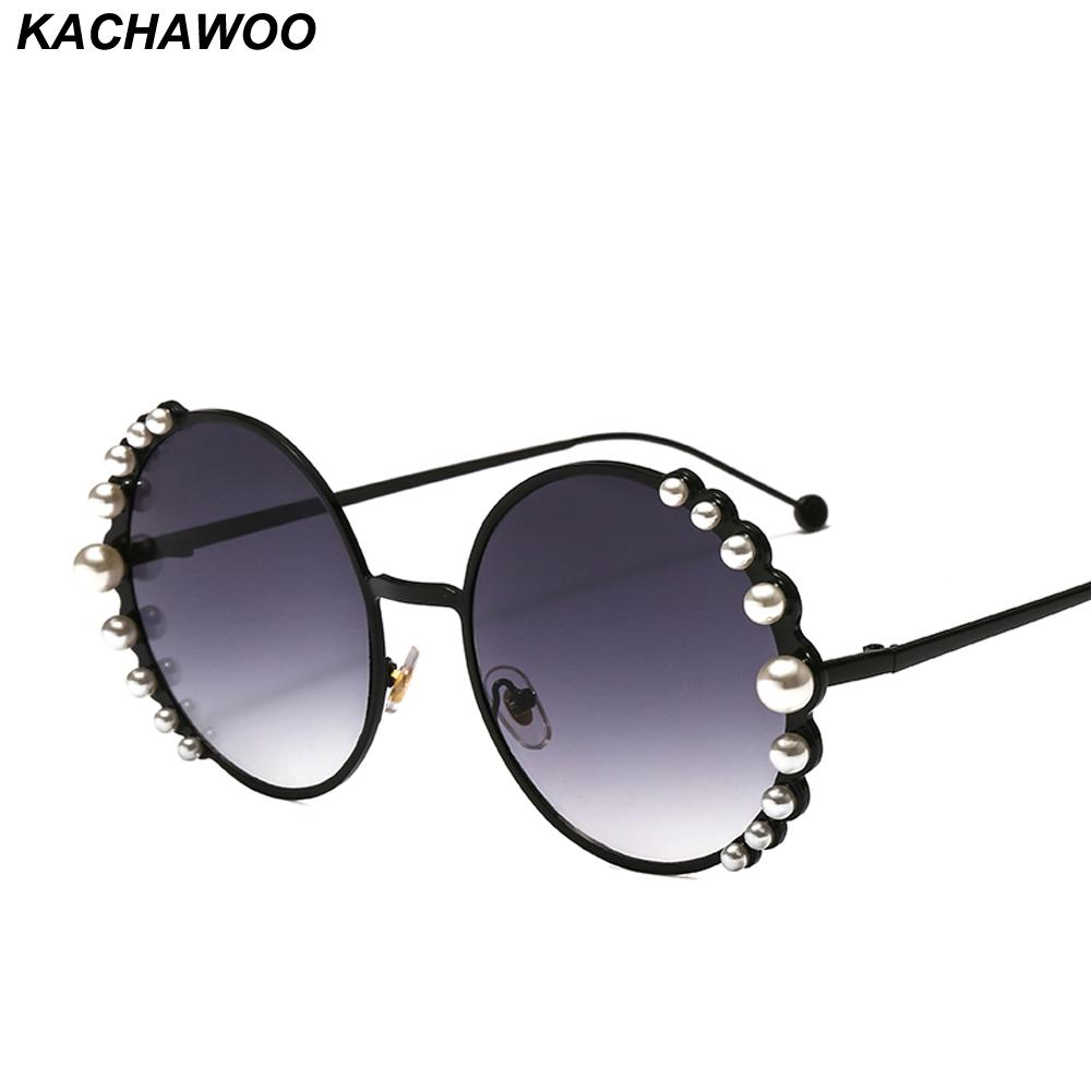 16d6d8146f Kachawoo Wholesale Round Women Sunglasses With Pearls Fashion Accessories  Metal Sun Glasses For Ladies 2019 New Year Gift Super Sunglasses Victoria  Beckham ...