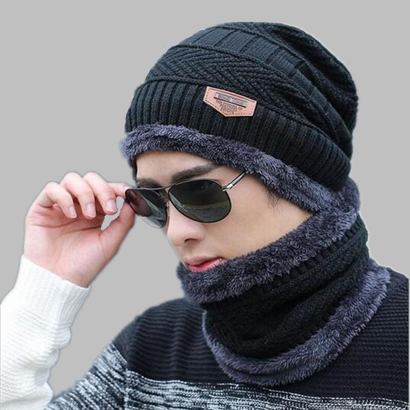 OZyc Balaclava Knitted Hat Scarf Cap Neck Warmer Winter Hats For Men ... 96864de4cc2c