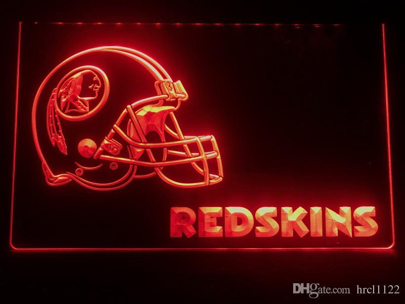 meet 76c49 29704 B340b- Washington Redskins Helmet Bar LED Neon Light Sign