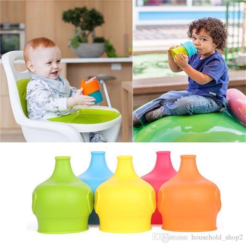 Auslaufsichere Silikonbecherdeckel 5 Farben flexibel Auslaufsichere Silikondeckel für Kinderbecher Milchbecher