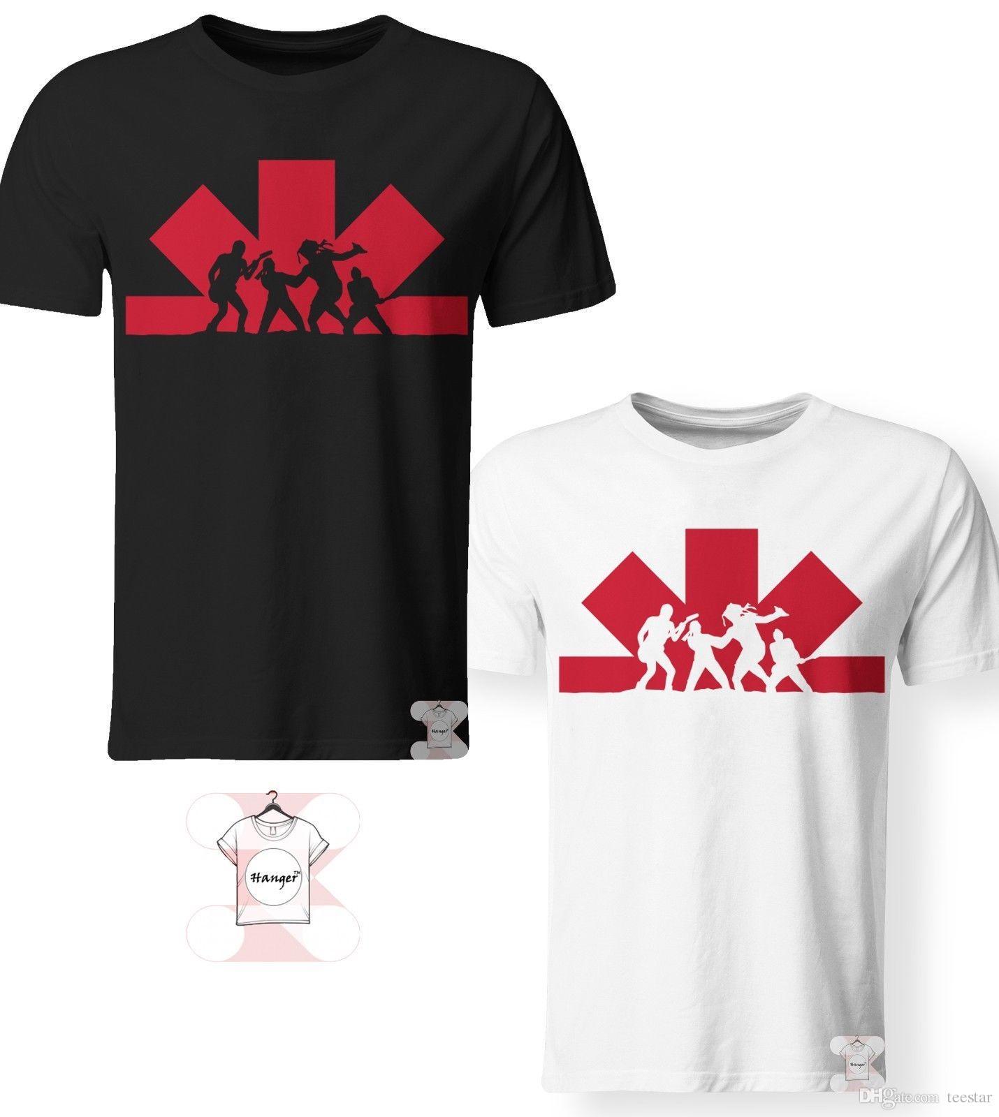 44dd896a Factory Outlet Logo Rock Band RHCP T-Shirt Men Women 3D Print S-7XL Shirt  Men's Cool White Short Sleeve Custom XXXL Men's Shirts