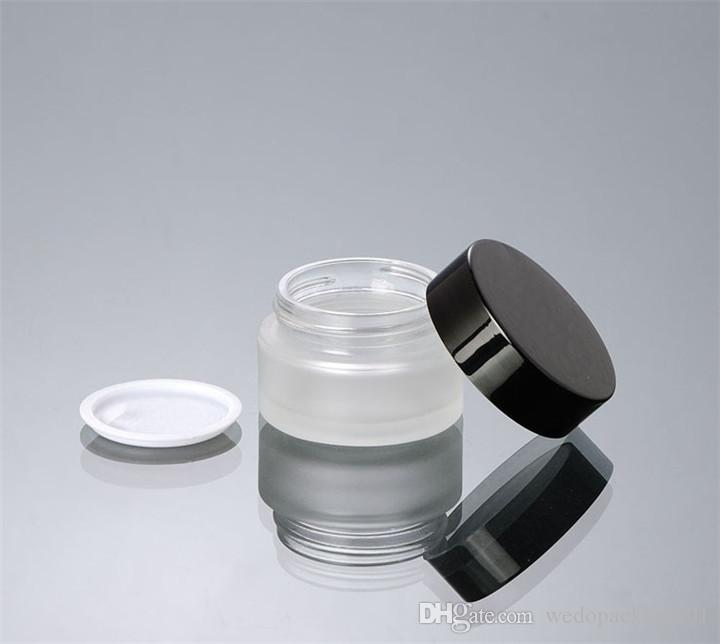 b83df0be40ff Frosted Surface Glass Cream Jar 10g 20g 30g 50g Refillable Package ...