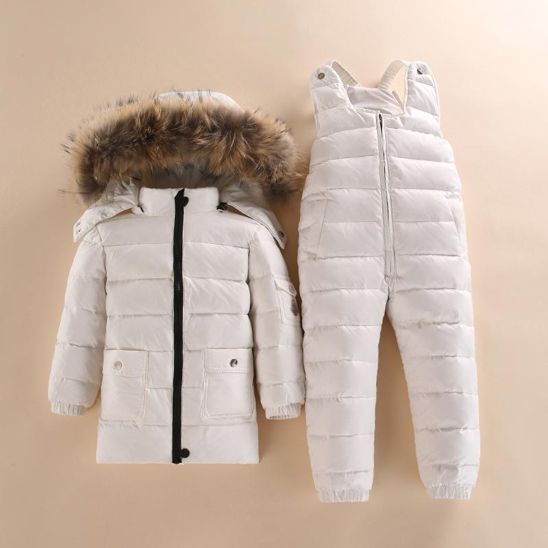 96b7eb7e59b0 30 Degree Russia Winter Children S Clothing Girls Clothes Sets Boys Parka  Jackets Coat Down Snow Wear Waterproof White Duck Y18102607 Boys  Lightweight Down ...