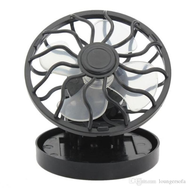 Outdoor Clip On Solar Panel Mini Fans Sun Power Energy Panel Cooling Cell Fan For Camping Hiking Fishing 8jl dd