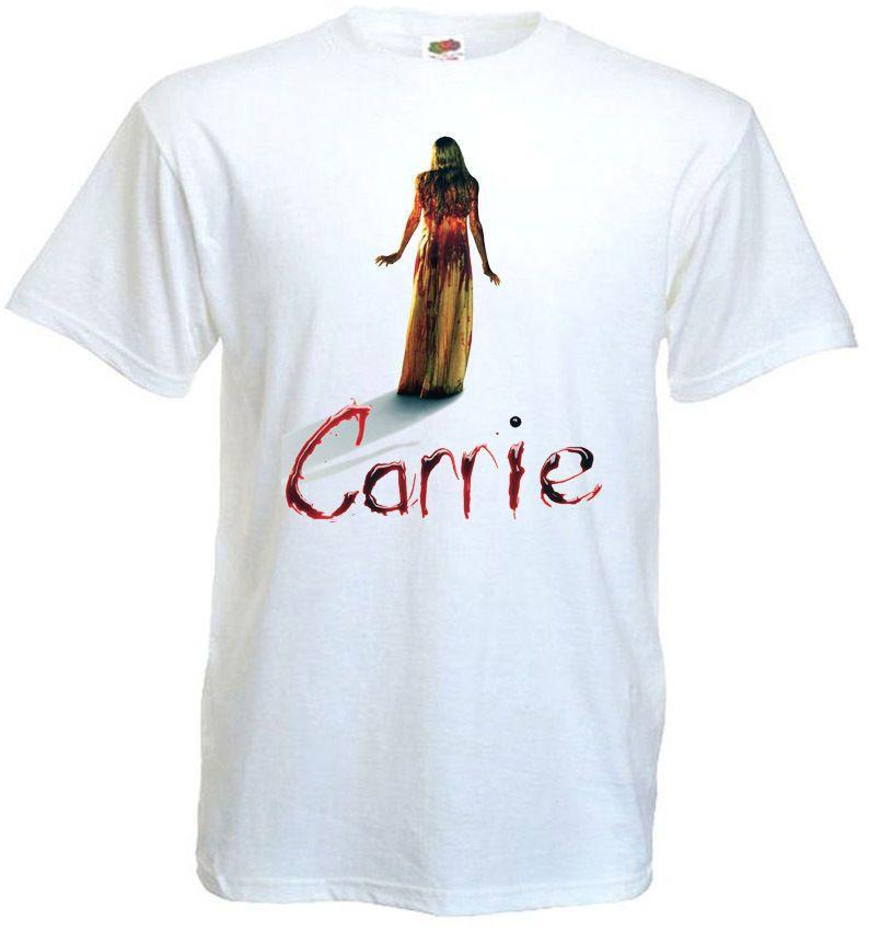 39cfc8529 Compre Verão Venda Quente Carrie V.8 T Camisa Cartaz De Filme De Terror  Branco Todos Os Tamanhos 2018 Men S Lastest Moda Manga Curta Impresso T  Shirt ...