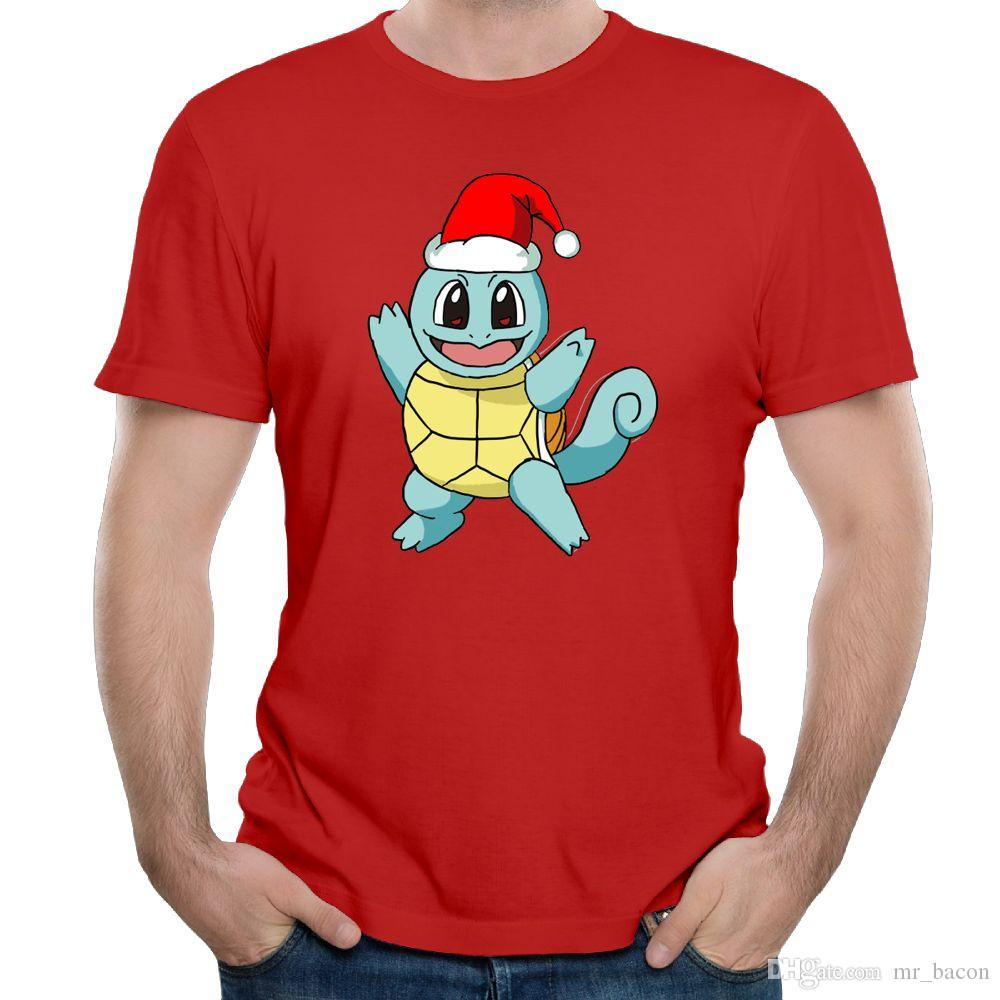 T-shirt da uomo T-shirt da uomo T-shirt da uomo T-shirt da ragazzo giallo Maglietta da bambino Squirtle Christmas
