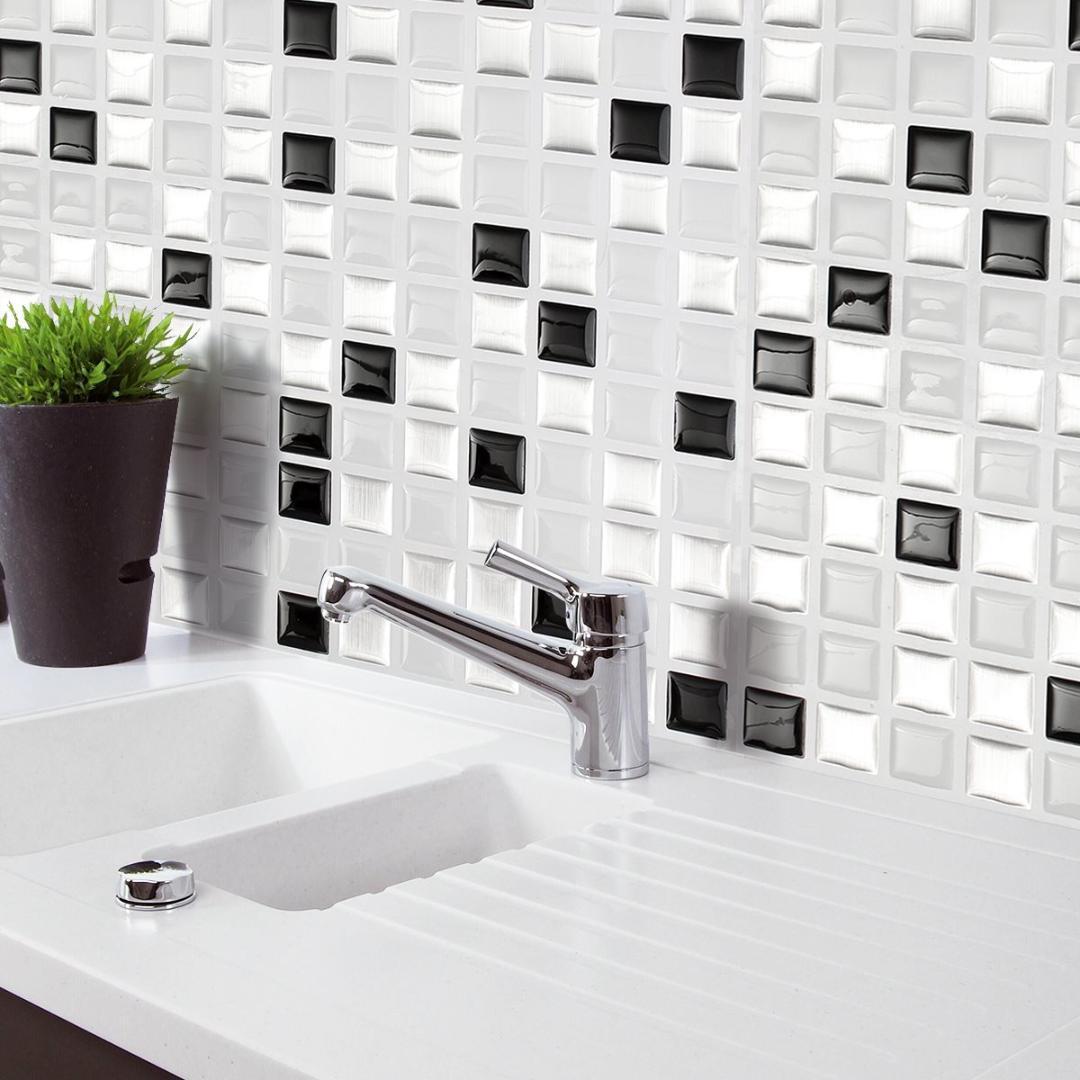 Acquista Home Decor Brick Mosaico Cucina Bagno Foglio Bellezza 3D ...