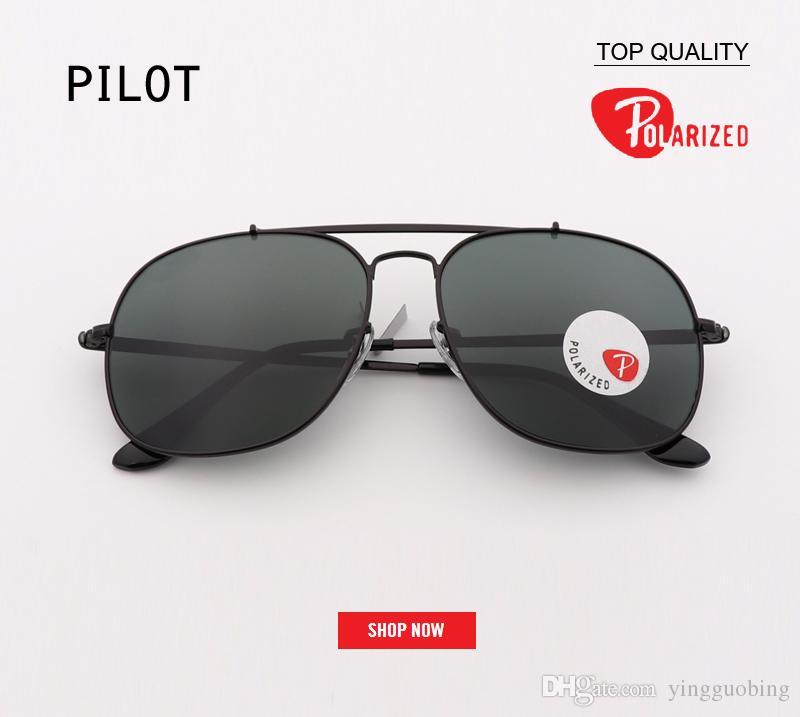 c57739694c New Fashion Designer Black Lens Pilot Women Sunglasses Brand Polarized  Metal Female Vintage Mens Fashion UV400 Clear Top Sunglasses Gafas Luxury  Sunglasses ...
