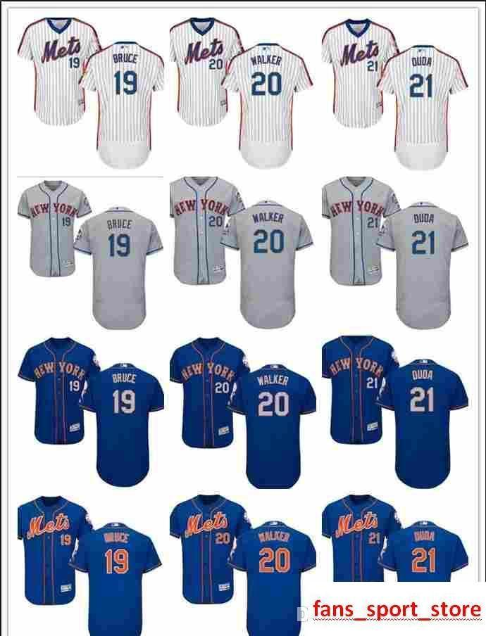 huge discount 4c66a 11429 2019 custom Men s women youth Majestic NY Mets Jersey #20 Neil Walker 21  Lucas Duda 19 Jay Bruce Home Blue Kids Baseball Jerseys