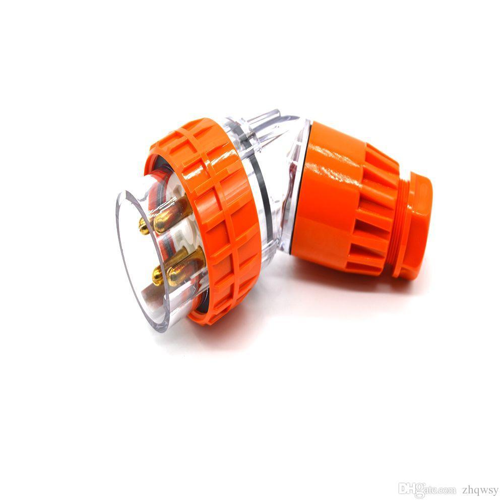 Prise étanche 500VAC 32A 56PA432 étanche classe IP66 3Pin + E coude