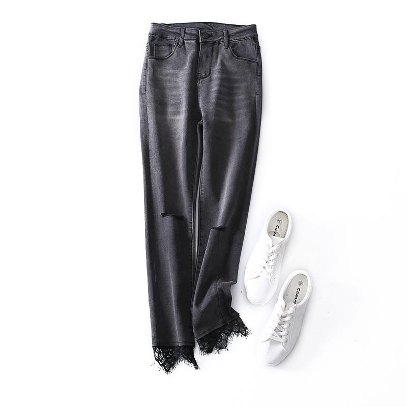 02bb494a810 Top Design! 2018 Summer New Arrival Office Lady Jeans Trousers Pants ...
