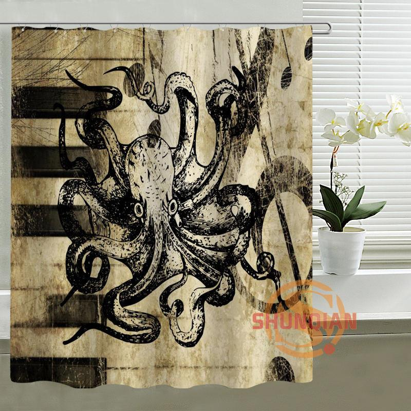 2018 Music Art Octopus Shower Curtain Personalized Custom Bath Waterproof Polyester For Family From Hariold 401