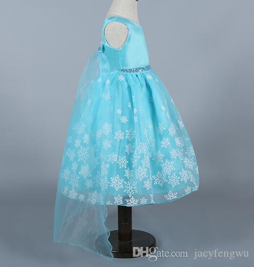 المجمدة الطفل بنات الأميرة فساتين ملابس الفتيات حفلة موسيقية اللباس تنورة هالوين الطفل الأطفال بوتيك الملابس الفاخرة تأثيري الملابس CSZ016
