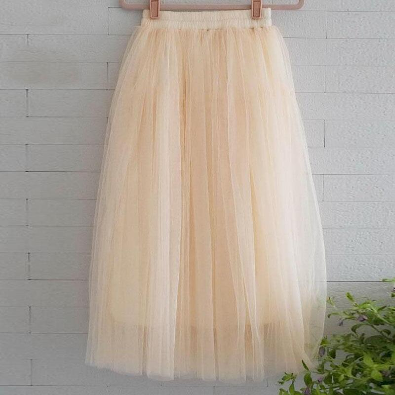 9f5fa0db96ffd 2019 Chiffon One Size Candy Color Pleated Skirt 2017 New Fashion Skirts  Solid Mesh Skater Summer Women Sexy Long Skirts S916 From Ruiqi02, $12.97 |  DHgate.