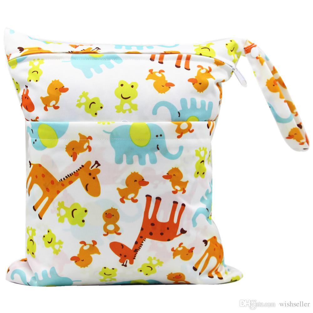 Yeni Açık Bebek Taşınabilir Su Geçirmez Sepeti Asılı Çanta Bezi Çanta Yıkanabilir İşlevli Depolama Kozmetik Çantası