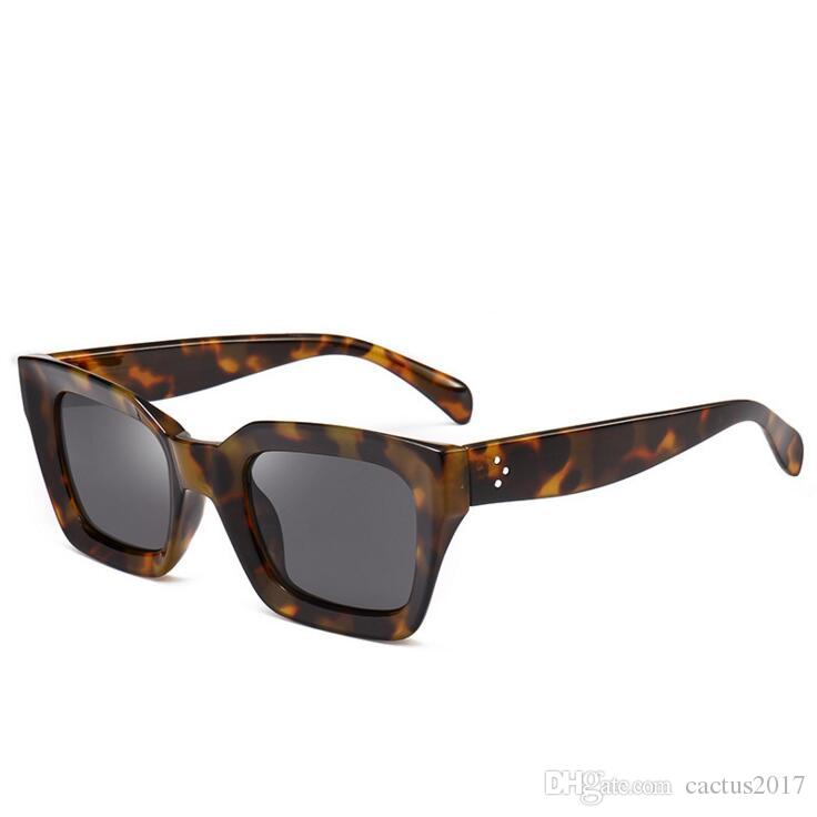 1df3c3961c89 Classic Retro Fashion Square Leopard Sunglasses Full Frame Women Gradient  Women Man Shades Dark Glasses Round Sunglasses Cheap Eyeglasses From  Cactus2017