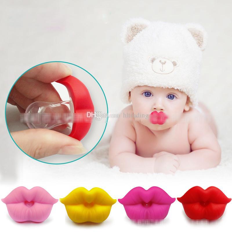 Neonati divertenti Grandi labbra rosse Ciucci Ciucci in silicone neonati Ciucci bambini i Succhietto Capezzoli C4493