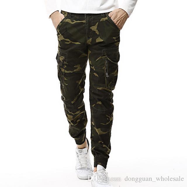 Compre 2018 Moda Primavera Mens Tactical Carga Basculadores Homens  Camuflagem Calças Camo Militar Do Exército Calças De Algodão Casuais Hip  Hop Calças ... e57716c50ad
