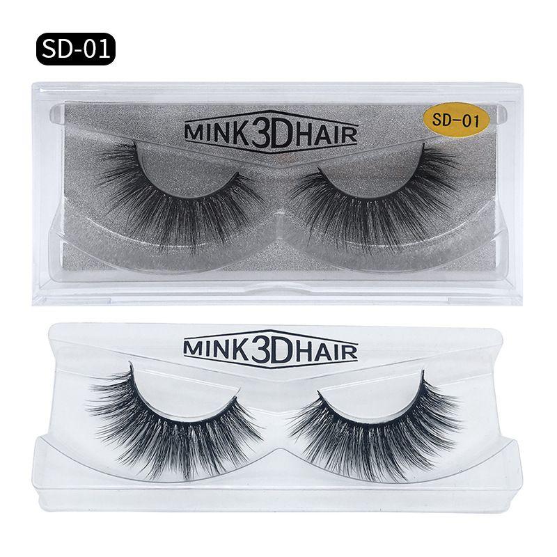 HOT New 3D Mink Eyelashes Eyelashes Messy Eye lash Extension Sexy Eyelash Full Strip Eye Lashes by chemical fiber Thick DHL shipping