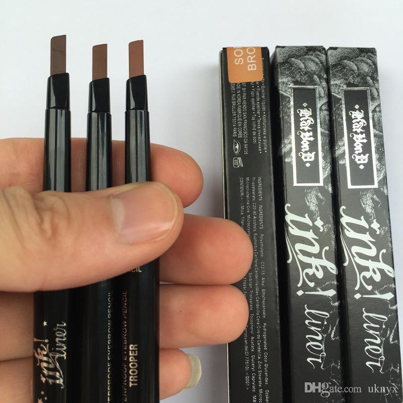 kat von d makeup 2 in 1 waterproof eyebrow pencil with eyebrow