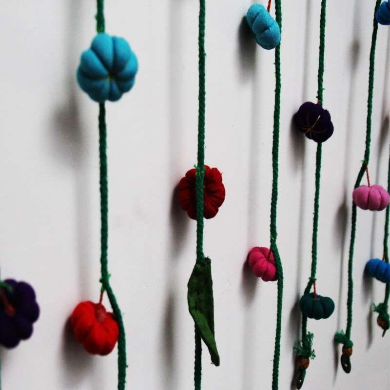 Reine Hand Kürbis Tuch Kunst Geheimnis Kind Zimmer Tür Vorhang Dekoration hängen Vorhang Partition