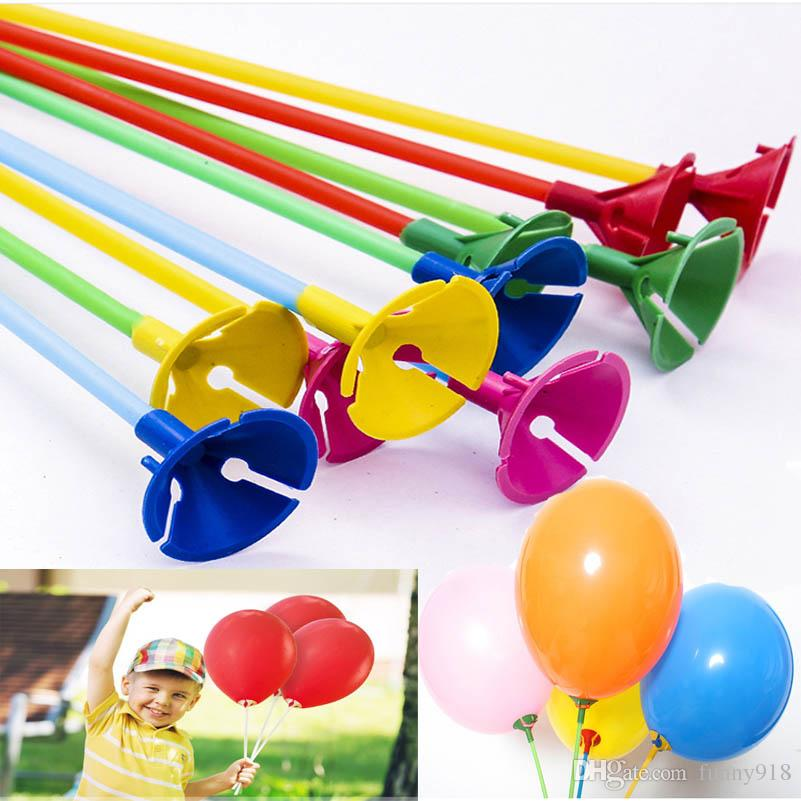 2019 40cm latex balloon stick pvc rods balloons holder sticks with rh dhgate com