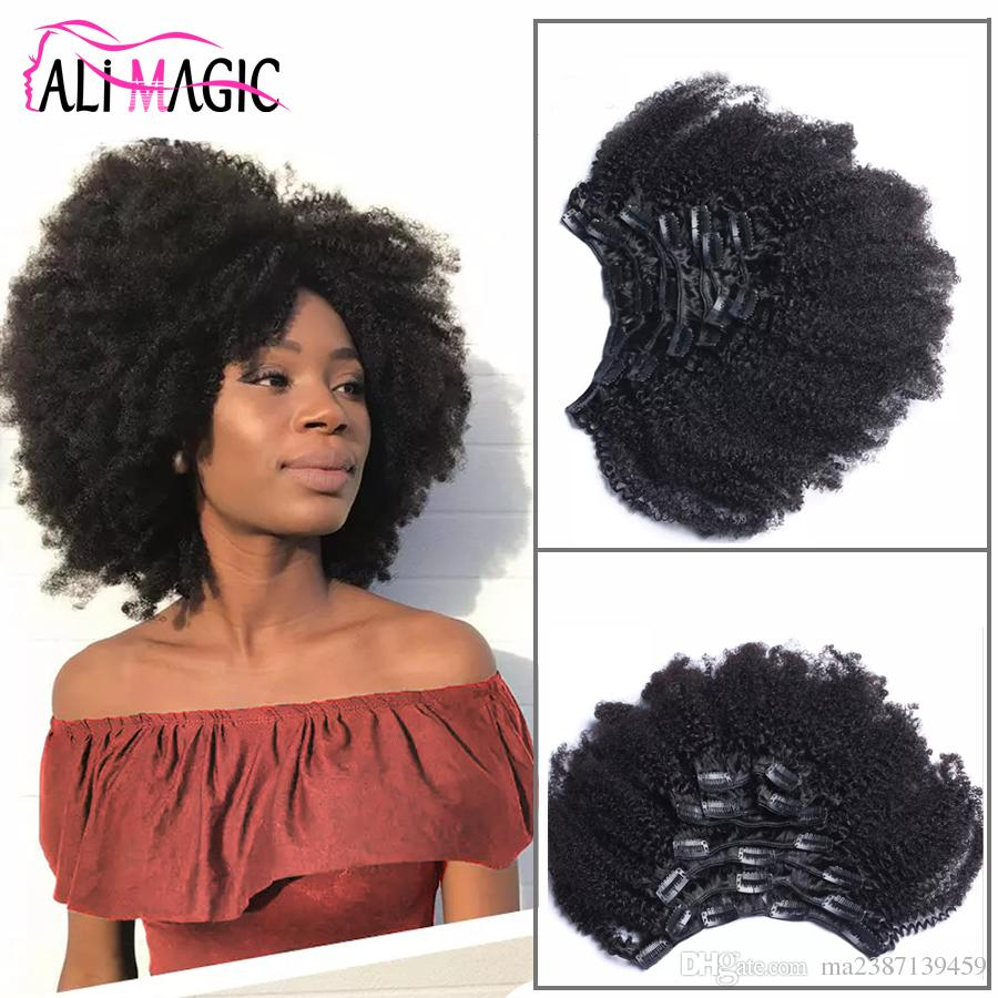 Ali Magic 2018 New Mongolian Afro Kinky Curly Clip In Hair