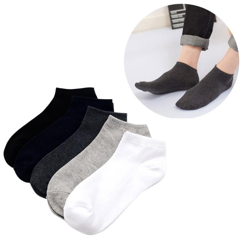 686a93cc418 2019 Plus Size Solid Color Mens Cotton Ankle Socks Casual Summer Breathable  From Purlove
