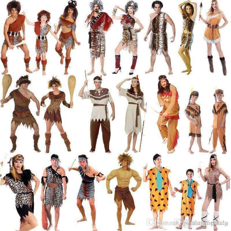 ab8d05e2b778 2019 Kids Adult Halloween Cosplay Savage Leopard Costume Indian Savage  Indigenous Performances Suits Carnival Primitive Clothes Rave Party Supply  From ...