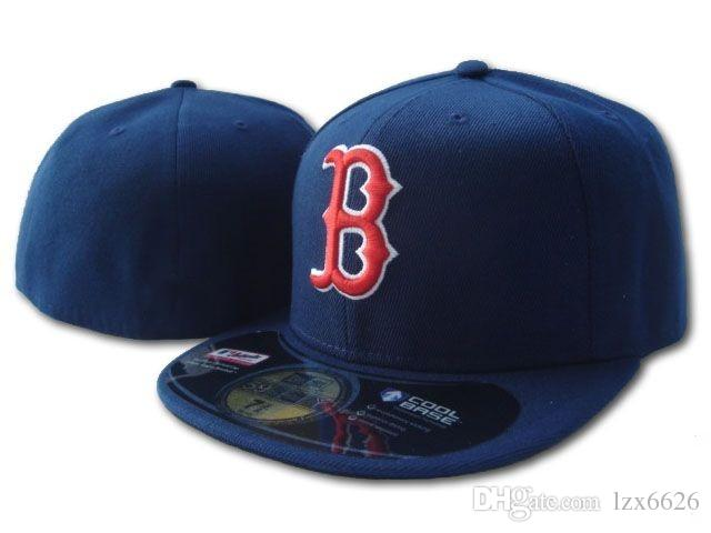 2018 New Boston Red Sox In Navy Blue Color Fitted Flat Hats Red B Letter  Embroidered Closed Caps Hip Hop Design One Piece Cool Caps Flat Brim Hats  From ... 0056d3044047