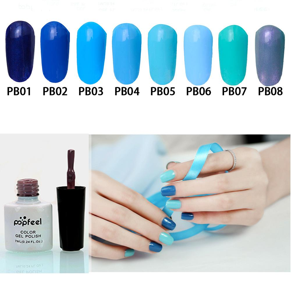 7ml Blue Pure Color Uv Gel Nail Polish Art Nail Gel Long Lasting Gel ...