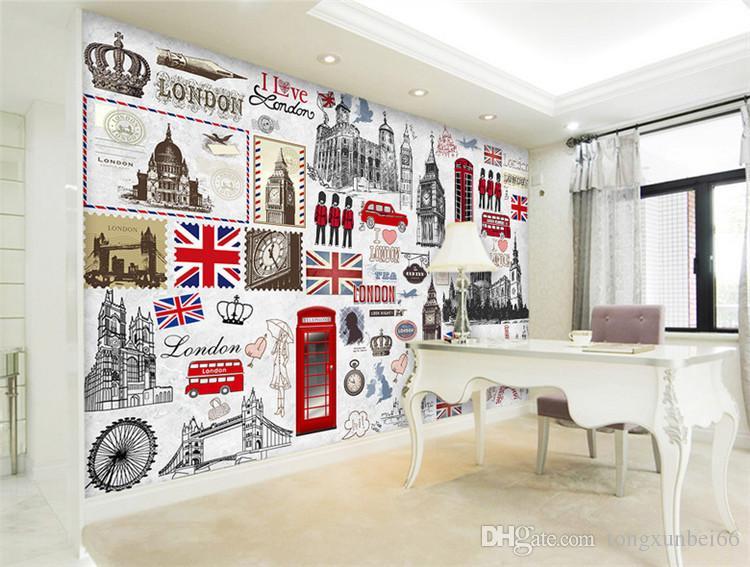 Grosshandel Europaische Retro London Wandbild 3d Poster Wandbilder