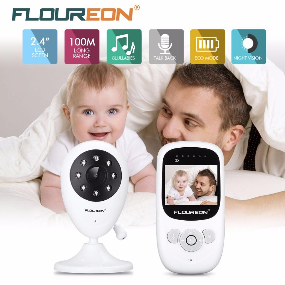 Stock Clearance! 2.4G Wireless Video Baby Monitor Night Vision Two-way Talk 2.4 inch LCD Display Temperature Monitoring Nanny